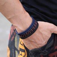 3pcs Mode Hommes Bracelet Set Fait à la main Réglable Paracord Braslet Homme Hommeur HiPhop Rock Charm Braclet Homme Accessoires pour lui