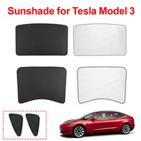 Car Sun Shades Glass Roof Sunshade for Tesla Model 3 2021 Front Rear Sunroof Triangle Windshield Skylight Blind Shading Net