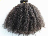 Perulu İnsan Saç Uzantıları 9 Parça Ile 18 Klipler Ile Klip Ürünlerde Koyu Kahverengi Doğal Siyah Renk Afro Kinky Curl