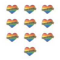 Gay Pride Heart Rainbow Flag Bandiera Spille di risvolto Pin LGBT Pin Love Is Love Smalto Pin per le donne Uomo Accessori per gioielli DFF4864