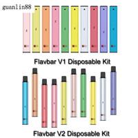 100% Original Flavbar V1 V2 Disposable Pod Device Kit 300 Puffs 1000 Puffs 650mAh 1.3ml 2.8ml Pods Vape Empty Bar Pen