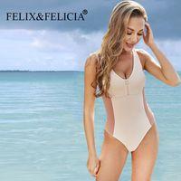 Felix Felicia Fábrica 2021 Nuevo Sexy Rits One Piece Mujeres Push Up Monokini Ladies Bursuit Summer Bikini