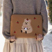 Card Holders Korean Bear Koala Laptop Case Bag For Ipad Pro 9.7 10.5 11 13 Inch Briefcase Pouch Ins Cartoon Tablet Liner Storage