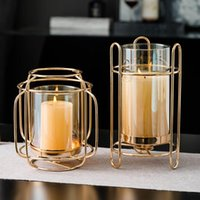 Candle Holders Nordic Metal Glass Holder Decoration Wedding Candlestick Modern Tealight Art Home Decor Dining Table Accessories
