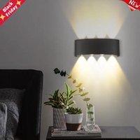 현대 LED 벽 램프 실내 옥외 조명 알루미늄 빛 IP65 방수 4 / 6 / 8 / 10W 홈 인테리어 침실 침실 침실