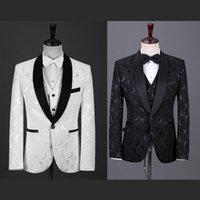 Men's Suits & Blazers (Jacket+Pants) Tailor-Made Men Suit 2021 Luxury Groom Wedding Dress Slim Dark Pattern Four-Piece Custom Made