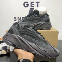 أعلى جودة West 700 v2 هجاء تيفرا الصلبة رمادي فائدة سوداء فانتنينغ أحذية الجمود انعكاس الرجال النساء الأحذية الرياضية مع مربع