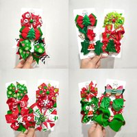 Christmas Hair Clip Baby Cartoon Bow Barrette For Xmas Party Accessory With Snowman Snowflake Kid Hairpin