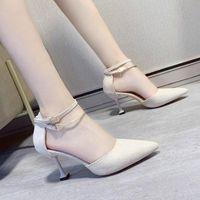 Dress Shoes Spring Autumn Women Pointed Toe High Heels Woman Sexy Buckle Strap Pumps Female Elegant Thin Heel Wedding