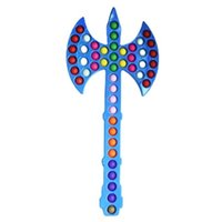 55.5cm Riesige Große Pops Zappeln Spielzeug Push Blase Sensory Stress Relief Kinder Familienspiele Ax Form Puzzle Spielzeug Finger Spiel Anti Angst Weihnachtsgeschenk G95J1F1