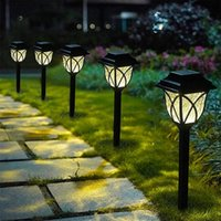 Solar Lamps LED Pathway Lights Landscape Street Light Outdoor Charge Garden Decoration Lawn For Outside House Waterproof