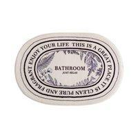Bath Mats Mat Nordic Style Oval Rug Bathroom Decor Machine Washable Simple Anti Slip Cartoon Toilet Bedroom Bathtub Water Absorbent