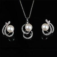 Fahsion Simulated-Pera Set Set Set collana orecchini Due PC per set Vendita Besting African Beads Gioielli PARERE BIJOUX FEMME 911 Q2