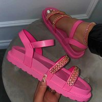 Sandals 2021 Fashion Wedge Platform Women Gladiator Open Toe Buckle Strappy Summer Shoes Sandalias Mujer