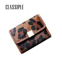 Wallets Small Lady Card Wallet Genuine Leather Leopard Horse Hair Women Holder Hasp Cardholders Female Mini Purse 2021 Est