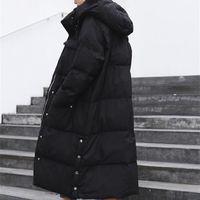 Bella Philosophie Frauen Solid Down Baumwolljacke Weibliche Wintermode Mit Kapuze Dicker Parkas Tasche Warme Übergroße Mantel 201110