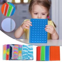 Fidget Toys Rainbow notebook Colorful Bag Push Bubble Sensory Squishy Stress Reliever Autism Needs Anti-stress Toy For Children Adult 50 pages CO11