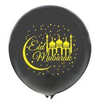 100pcs 12inch Latex Eid Mubarak Confetti Balloon Party Decoration Muslim Foil-Balloon 30cm Moon Star Foil Mylar Balloon; Party-Supplies Custom Design