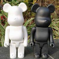 28 cm 400% Bearbrick Ayı @ Tuğla Aksiyon Figürleri Ayı PVC Model Rakamlar DIY Boya Bebekler Çocuk Oyuncakları Çocuk Doğum Günü Hediyeleri Q0621