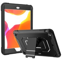 TPU PC Tablet Cases for iPad 10.2 [7th 8th Gen] Mini 5 4 Air 3 2 1 Pro 11 10.5 9.7 inch Samsung Galaxy Tab T500 Dual Viewing Angle Kickstand 3-Layers Shockproof Protection Case