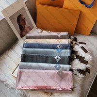 Foulard de mode écharpe hiver écharpes de lettre de lettre design Pashmina pour homme Femmes châle longue cou 8 couleur hauteur qualité