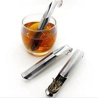 Paslanmaz Çelik Boru Tasarım Süzgeç Çay Demlik Dokunmatik Hissediyorum İyi Tutucu Aracı Çay Kaşığı Demlik Filtre Sticks Mutfak Aksesuarları JJA243