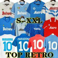 مارادونا 1986 1987 1988 1988 1999 نابولي ريترو لكرة القدم الفانيلة خمر 87 88 89 91 93 كوبا إيطاليا نابولي قمصان كرة القدم الكلاسيكية