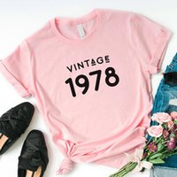 Clássico 1978 Camiseta Mulheres Algodão 43 ª Presente de Aniversário 43 Anos Velho T-shirt Mãe Esposa Filha Presentes Feminino Gráfico Tee Mulheres