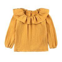 Toddler Baby Girl Shirt Long-Sleeve T-shirt Kids Infant Peter Pan Collar Tops Cotton Linen Girls Blouse Dot Baby Outfits 110 Y2