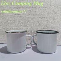 التسامي المينا القهوة التخييم القدح 12 أوقية الفولاذ المقاوم للصدأ فنجان القهوة دائم السفر المشروبات أكواب أكواب الحنين