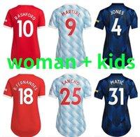 Womens Kids Kit 2021 2022 Manchester Sancho Ronaldo Fussball Jerseys 21 22 Cavani Pogba Martial van de Beek B. Fernandes Damen Jersey Rashford Football Hemden