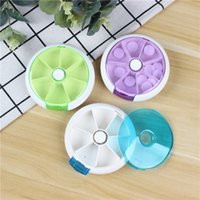 Seal 7 Grids Portable Mini Pill Case Boxes Bins One Week Plastic Transparency Large Capacity Home Storage Organization