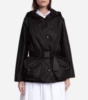 Женская куртка осень весенний стиль стройные буквы ремень для леди куртки Вершина одежда Windbreaker с кнопкой классическая одежда S-L