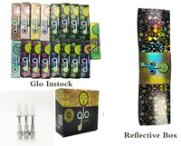 Glo Vapes Cartridge Jednorazowe Vape Pen 510 Opakowania Atomizer Ceramiczne Cewki Cewki Carts 0.8ml 1.0ml Oil E Papieros Produkcja Produkcja odblaskowe