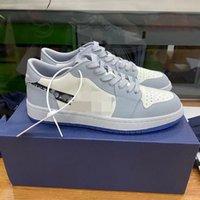 2021 كشفت مع تعاون الذكرى الذكرى رمادي الأبيض الفرنسية الأزياء نمط التسمية كيم جونز حذاء حذاء الحجم MK0002