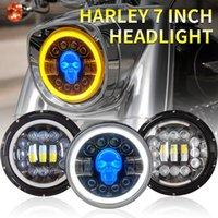 Phare de 7 pouces LED DRL HI / LO BEAM 106W Bague halo Amber Angel Eye avec Turn Signal Moto Lada Offroad 4x4 SUV 12V 24V