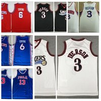 Erkek Allen 3 Iverson Julius 6 ERVING WILT 13 Chamberlain Vintage Basketbol Forması