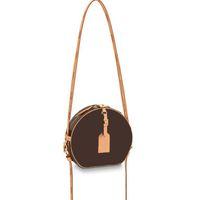 고품질 클래식 디자이너 어깨 가방 여성 핸드백 Boite Chapeau Souple Crossbody 가방 갈색 오래 된 꽃 패션 럭셔리 여성 저녁 지갑 아가씨 클러치