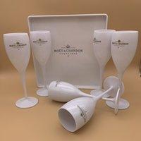 1 트레이 + 6glass 뜨거운 판매 파티 PC 플라스틱 샴페인 글래스 레드 와인 잔 아크릴 Goblet 브랜디 컵