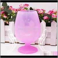 Drinkware Kitchen, Dining Bar Home & Garden Arrive Colorful Fashion Unbreakable Clear Rubber Glass Sile Cup Wine Glasses Ok Yas 192 V2 Drop