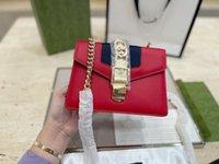 Projeto Mãos da moda Gulfskin Sylvia Sylvia Navy Versão Alta Cabeça de Couro Moda Um Ombro Corrente Neutral Bolsa De Postal