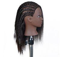 % 100 insan saçı ile Wholse Afrika siyah manken eğitim kafası
