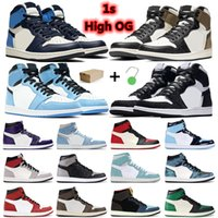 Nike Air Retro Jordan 1 universitaria blu obsodian iper regale royal tower turbo verde unc jumpman moda sport sneakers
