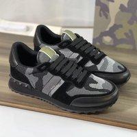 Männer Rockrunner mit Top Echt Casual Stoff Mesh Sneakers Qualität Lace-up Leder Outdoor Box 264 Schuhe Camouflage Geschenk Designer Trainste Srol
