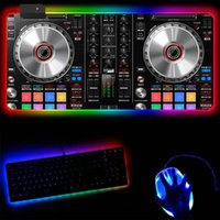 Mouse Pads & Wrist Rests Custom DJ Hand Drive LED Light Gaming RGB Mousepad Large Keyboard Colorful XL Pad Gamer USB Wired Desk Laptop Mat