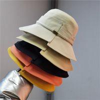 Stingy Brim Hats fashion spring and autumn Irregular solid color womens travis scott bucket hat designer fisherman cap split retro sunscreen caps