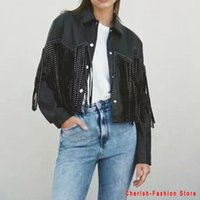 Women's Leather & Faux Jacket Women Fringed Rivet Punk PU Locomotive Short Coat Motorcycle Outerwear Ladies Female Coats Brand