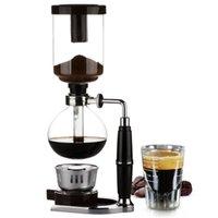 Syphon Pots Coffee Vacuum Coffee Maker Tea Home Siphon Pot Maker Glass Type Coffee Machine Filter 3-5cups Espresso Machine 210408