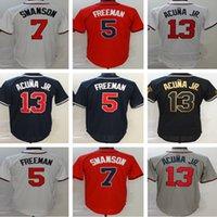 13 Ronald Acuna Jr. Jersey 1 Ozzie Albies 5 Freddie Freeman 7 Dansby Swanson 20 Marcell Ozuna McGriff Austin Riley Baseball Jerseys
