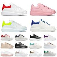 2021 Varış Erkekler Kadınlar Moda Açık Deri Platformu Rahat Ayakkabılar Espadrille Boy Taban Sneakers Tasarımcı Düz Espadrilles Siyah Beyaz Boyutu 36-44